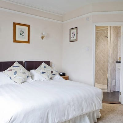 Interior shot of a bedroom at Lattice Lodge - Superior Double Room