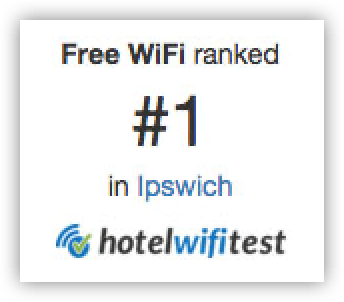We have one of the fastest wifi connections in Ipswich